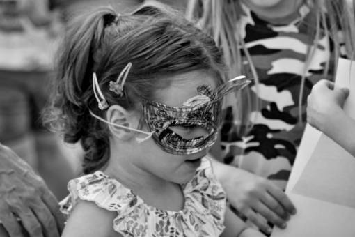 child mask side handmade face cute goggles fun drawing  education woman funny person childhood attention attractive