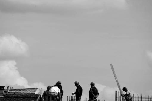 construction worker outdoors industrial daylight mountains landscape person outdoor industry workman architecture  building workers working