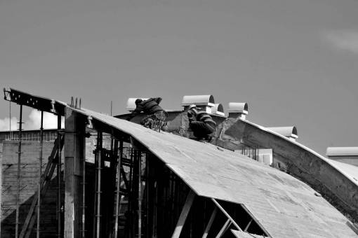 construction workers worker workman architecture working daylight outdoors industry steel building