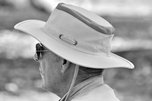 cowboy hat portrait senior outdoors clothing pensioner elder