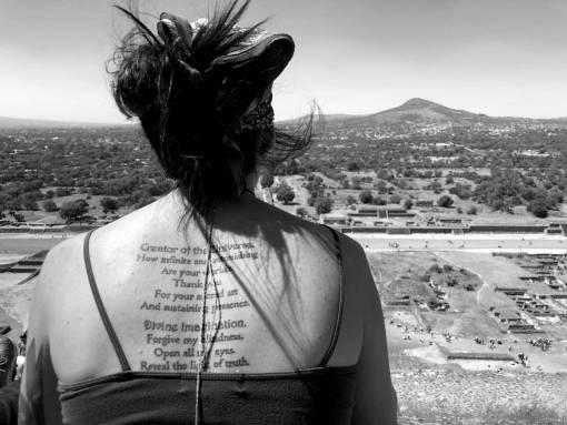 desert sand skin tattoo portrait beach summer wind woman