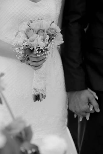 flowers groom bouquet bride hands marriage engagement event