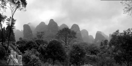 jungle castle mountain china hills fog staircase landscape wilderness rainforest