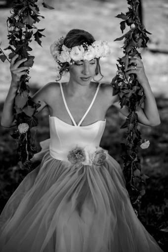 nymph pretty goddess swing gorgeous bride skirt flowers  nature