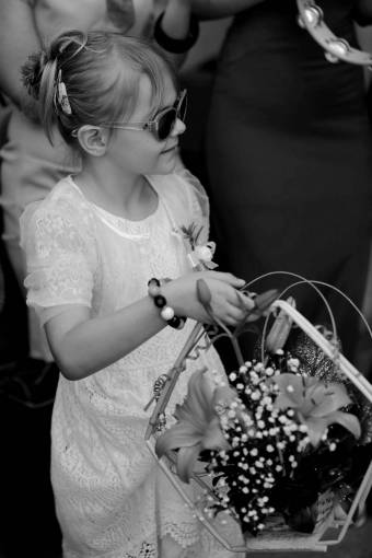 pretty arrangement wicker basket flowers flower event music