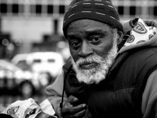 man  person  black and white  people  street