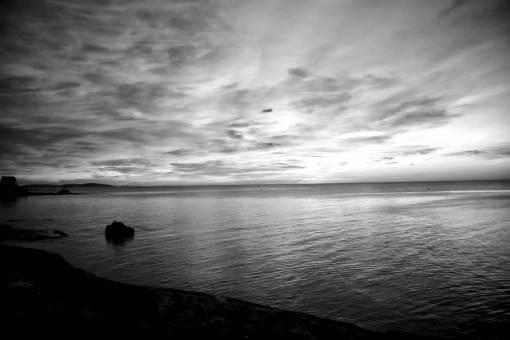 beach  sea  coast  ocean  horizon  cloud