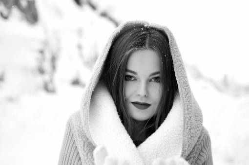 hand  person  snow  winter  girl  woman