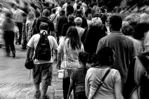 pedestrian  walking  people  road  traffic