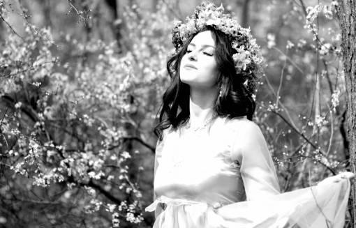 plant  girl  woman  white  flower  model