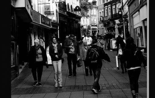 work  pedestrian  walking  people  road
