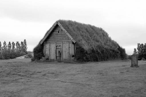 green barn grass landscape lawn cottage rural architecture structure