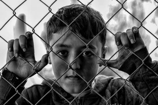 person  black and white  boy  child  sad