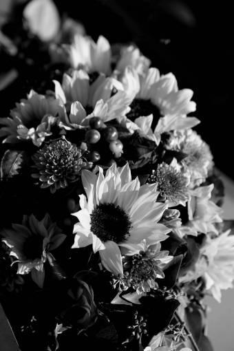 bouquet flora sunflower leaf summer wedding bright nature flower garden