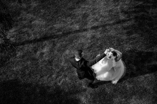 dancing waltz groom lawn grass bride dance wedding man