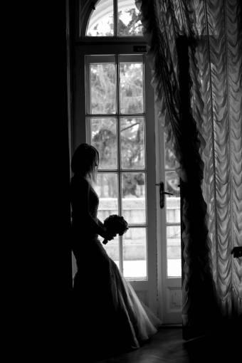 pretty alone wedding dress shadow curtain bride think bouquet attractive