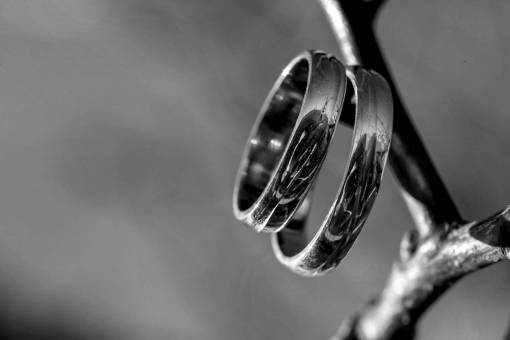 shine close sunrays platinum pair rings metal reflection branches golden