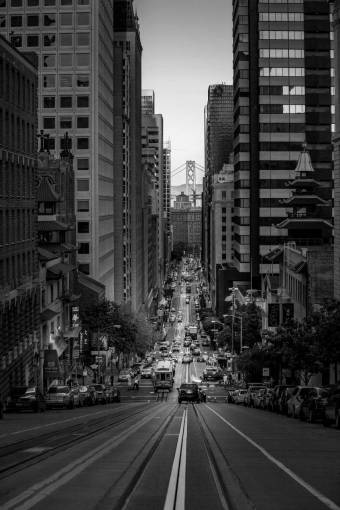 pedestrian  road  skyline  traffic  street